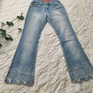 🌿Revolt jeans with embroidery